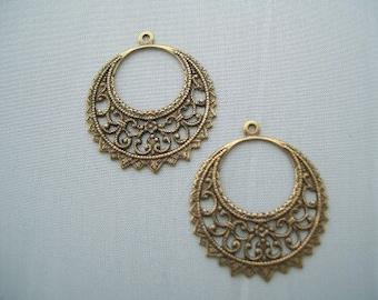 Bohemian Hoops antique gold Earrings Jewelry making