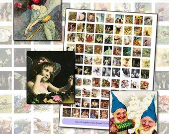 Fairy Fairies Quotes Scrabble sheet .75 x .83 actual Scrabble size digital collage sheet 19mm x 21mm
