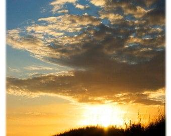 Topsail Island Sunset, North Carolina Photography - Beach, Coastal Home Decor Fine Art Print or Note Cards