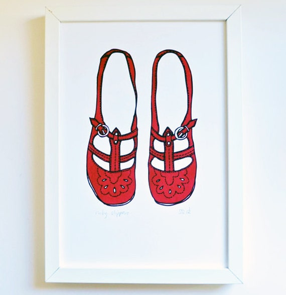 Ruby Slippers large A4 print