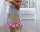 Private Listing for Rebecca-- Darling Dachshunds Ruffle Pants Size 3 - Caroline's Closet