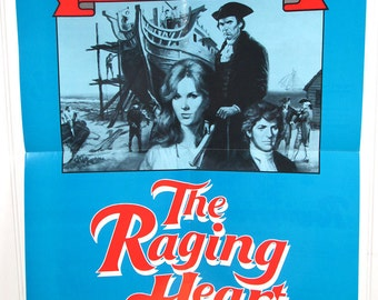 Vintage Book Advertising Poster - The Raging Heart - The Strong Americans by Arthur Moore - Historical Fiction Novel