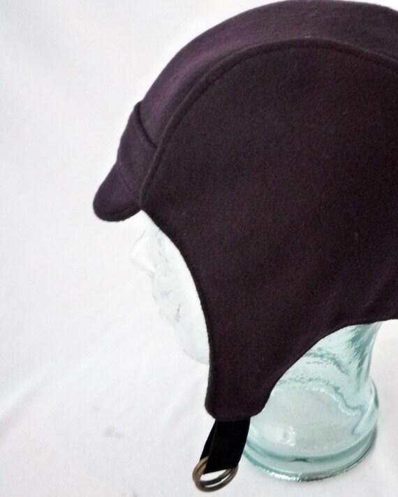 winter aviator hat in eggplant wool womens hats amelia