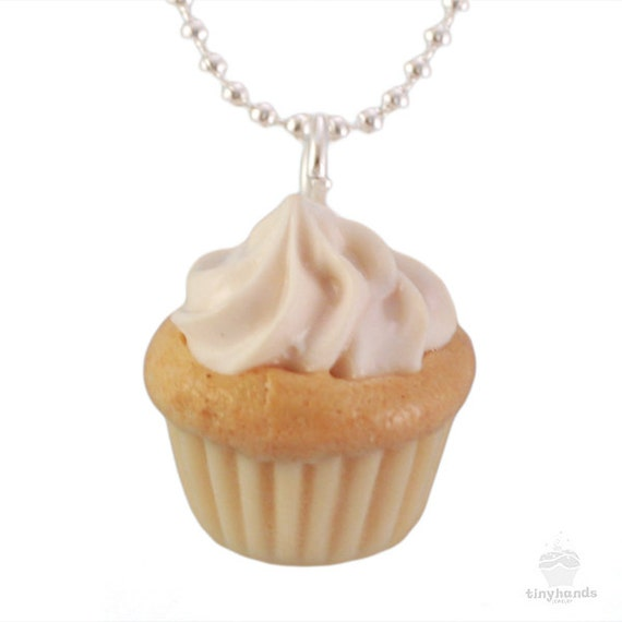 Food jewelry scented vanilla cupcake necklace with by for How to make scented jewelry
