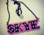 TATTOO custom name necklace laser cut