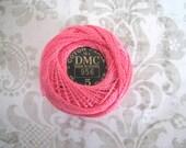DMC Perle Cotton Thread Size 5 Geranium Pink 956