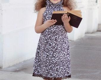Poet Collar Top/Dress Sewing Pattern/Tutorial PDF sizes 0m - 12 girls Instant