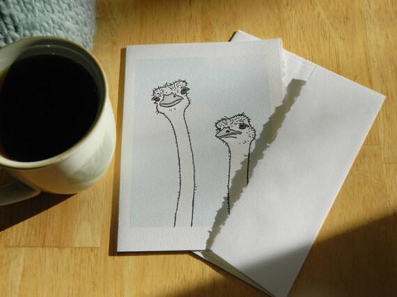 ostrich card: unimpressed