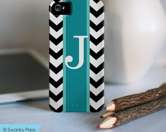 Personalized iPhone Case - Monogram iPhone Case - Rugby Stripe - choice of color
