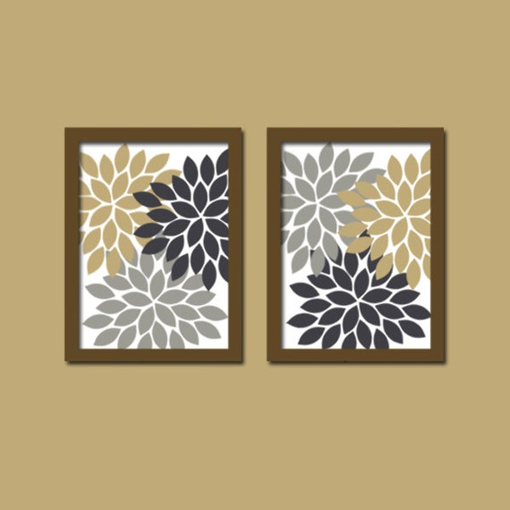 Bathroom Art Grey: Wall Art Canvas Artwork Colorful Navy Tan Gray Beige By