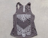 Women's tank top - racer back tank top - boho screenprint on tri-blend American Apparel tank - The Nomad by Blackbird Tees