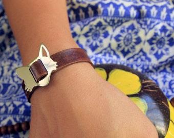 FOX Leather Bracelet (free shipping)