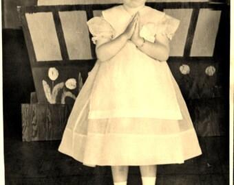ZENA 1939 DUTCH GIRL - 5 x 7 Black and White Photograph