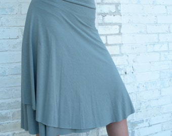 Organic Cotton & Bamboo Adjustable Waist Skirt