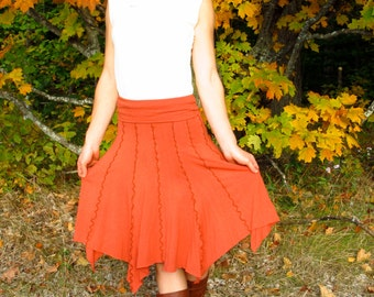Organic Cotton & Bamboo Midlength Skirt