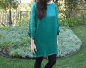 Vintage Sequined Silk Tunic Dress M/L