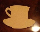 Cup and Saucer Handmade Unfinished Mosaic Base/Craft Shape 1/4 Inch Thick