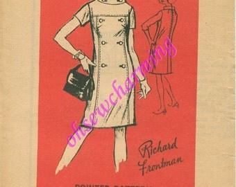 1969 Mail Order Mod Dress Sewing Pattern Designer Pattern A688 by Richard Frontman Size 14