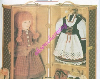 Vogue 9688 American Girl 18 Inch Doll Furniture Sewing Pattern Samanthas Trunk Case