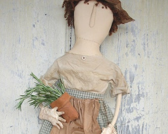 Esther's Herb Garden. A Primitive, Folk Art Doll Pattern, by Raven's Haven
