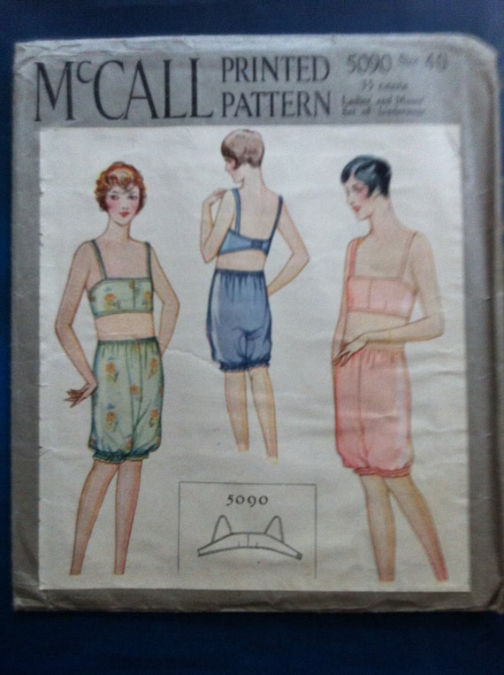 S A L E - sale - S A L E - 1920s 1930s vintage lingerie pattern- mccall 5090