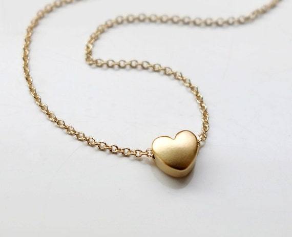 tiny gold necklace small necklace simple gold