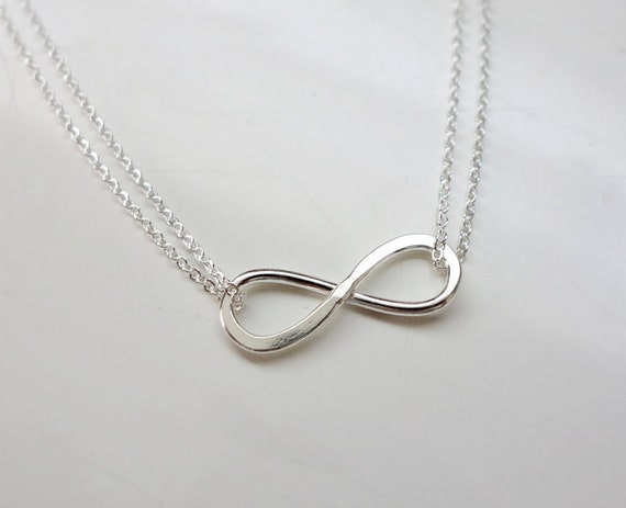 Items similar to Sterling Silver Infinity Necklace ...