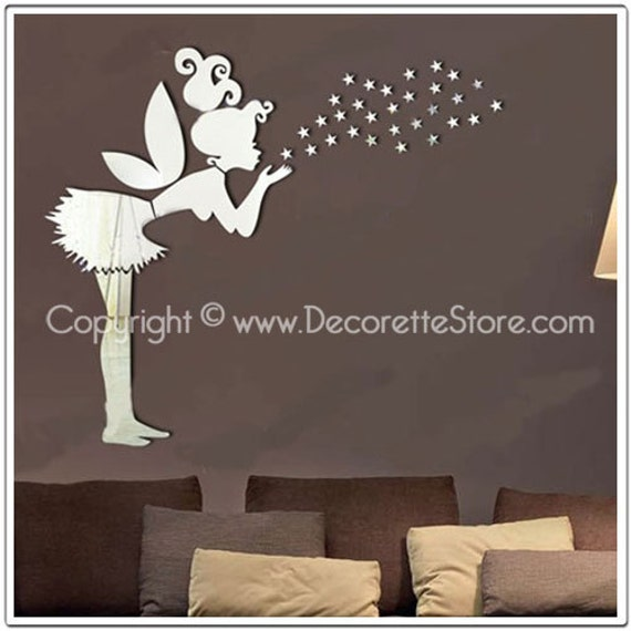 Mirrored Star Wall Decor: Items Similar To Mirror Wall Decals