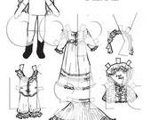 Heirloom Girl Paper Doll to print, color and cut (small version)