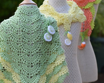 3 CROCHET PATTERNS Tutti Frutti Scarf & Shawl eBook/Pdf