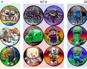 "Creative Block Game Chibi 1.75"" Pin-Backed Buttons - Set of 6"