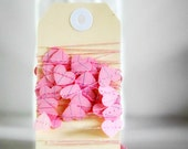 Tiny VALENTINE Hearts Stitched Paper Garland Pink Valentine Wedding Engagement Birthday Baby Girl Christening Baptism - seen Front Page Etsy