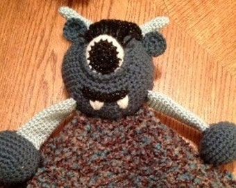 PDF - Security Blanket Pattern - Crochet - Oogly the Monster