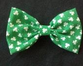 St Patricks Day Clover Hair Bow