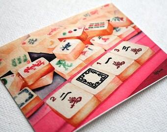 Tiny PRINT Mahjong 2013 - ACEO Giclée Fine Art Print 2.5x3.5