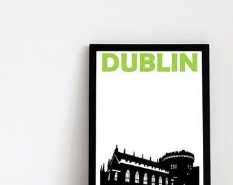 Dublin Print // Ireland Art Print // Dublin Poster // Dublin Art // Irish Art // Irish Gift // Irish City Poster // Gift for Travellers