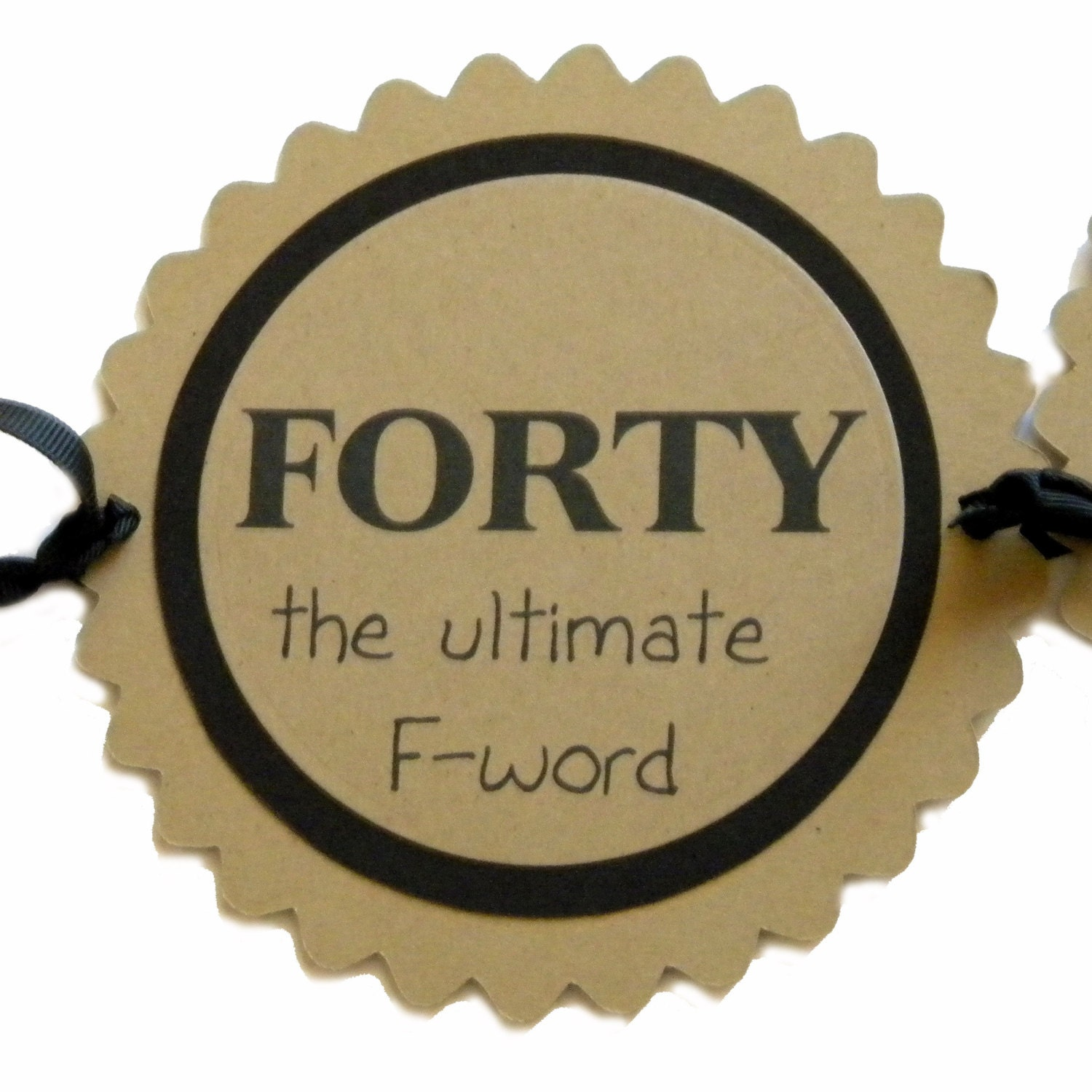 40th Birthday Banner Forty The Ultimate F-Word Black