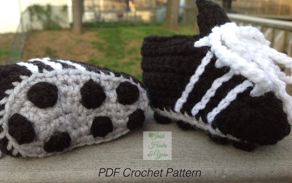 Instant Download Soccer Cleats/Running Shoes PDF Crochet