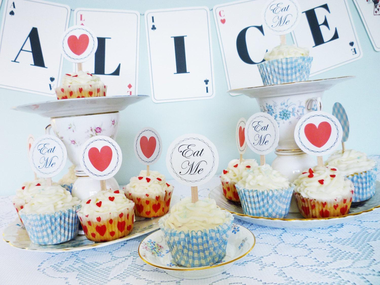 Alice In Wonderland Decoration Alice In Wonderland Printable Party Kit Diy Party Printables
