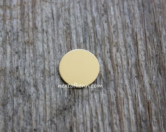 4 Pack 1/2 inch 20 Gauge GOLD FILL Round Circle Discs Jewelry Stamping Supplies