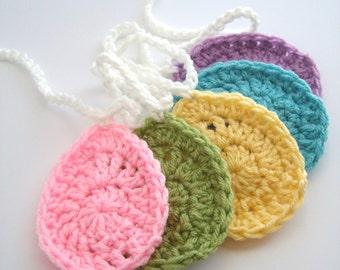 Crochet Easter Egg Garland - Easter Banner - Easter Garland - Easter Bunting - Crochet Egg - Crochet Spring Decor - Spring Garland