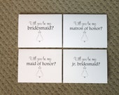 READY TO SHIP Bridal Party Cards