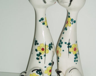 Vintage Tall Cat Ceramic Salt and Pepper Shakers, Long Boys / Tall Boys Ceramic Cat Salt and Pepper Shakers s&p   EMBASSY QUALITY  PRODUCTS