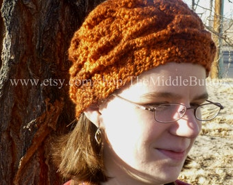 Daphne Leaf Cable Headwrap PDF Pattern
