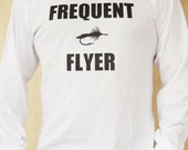 Long Sleeve Fly Fishing T Shirt - Frequent Flyer