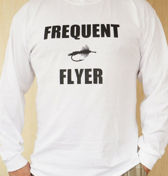 Items similar to long sleeve fly fishing t shirt for Fly fishing hoodie