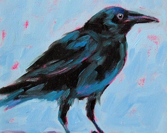 Crow - Black Crow - Bird Art - Giclee Print