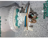 Airplane Wedding Cake Topper, Wedding Cake Topper, Custom, Personalized