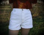 RESERVED FOR SHARMAINE: Vintage High-Waisted Short Shorts in White