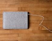 Simple iPad Mini Sleeve - Grey Felt - Short Side Opening